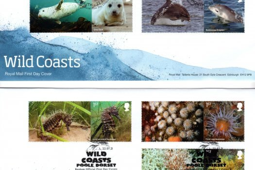 Royal Mail Wild Coasts Generic Sheet FDC image 1