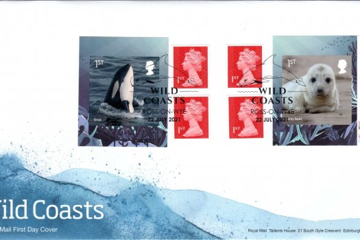 Royal Mail Wild Coasts Retail Booklet FDC