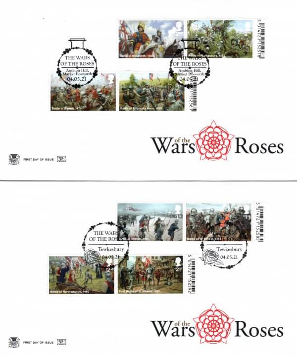 Stuart-War-of-the-Roses-Barcoded-FDC