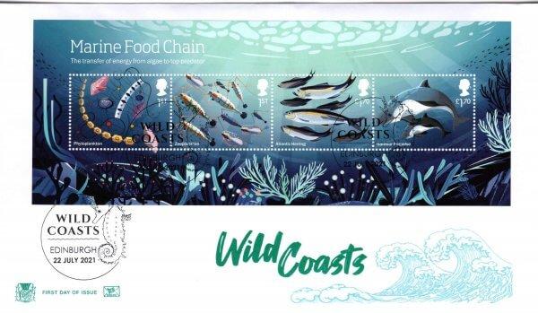 Stuart Wild Coasts Minisheet FDC